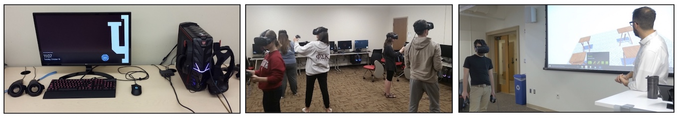 Reality Lab virtual reality systems used by students and faculty