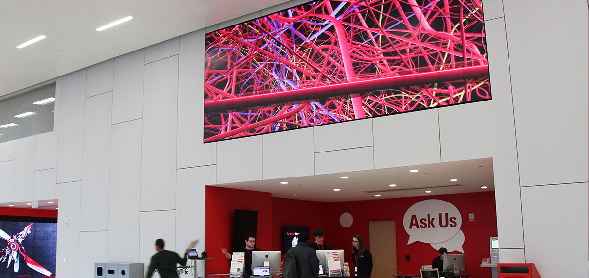 Ask Us Video Wall