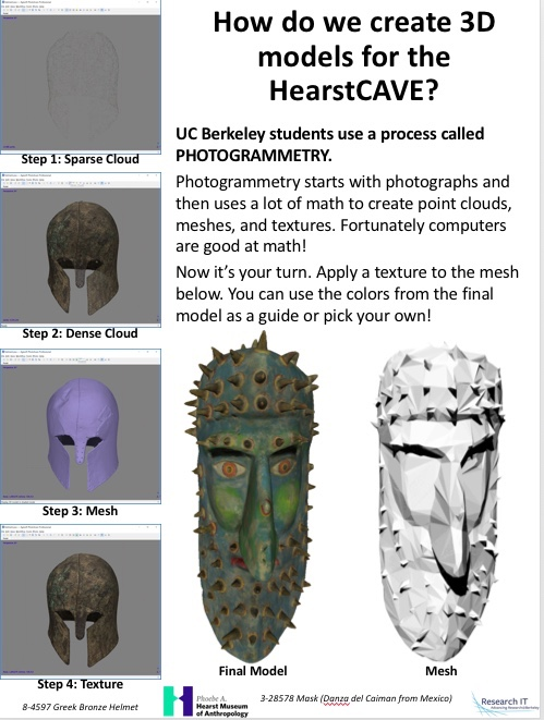 flyer for Cal Day photogrammetry